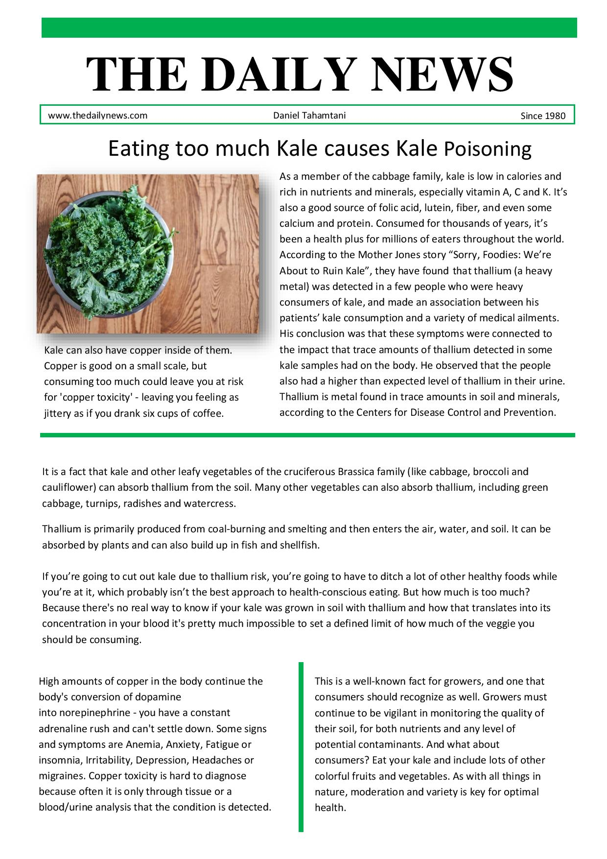 Can you eat too much kale